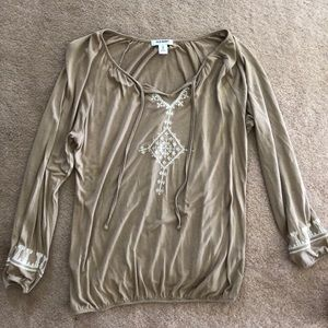 Tan long sleeve top